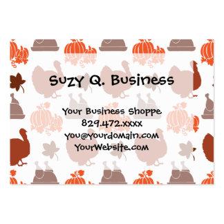 Thanksgiving Dinner Turkey Pumpkin Fall Harvest Pack Of Chubby Business Cards