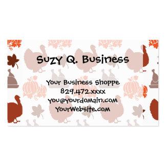 Thanksgiving Dinner Turkey Pumpkin Fall Harvest Pack Of Standard Business Cards