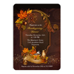 Thanksgiving Dinner with Autumn Leaves 13 Cm X 18 Cm Invitation Card