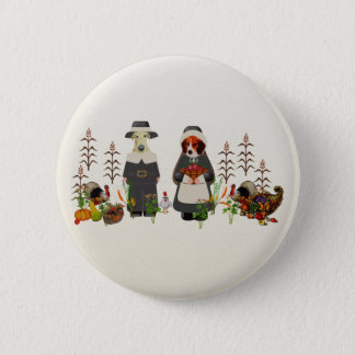 Thanksgiving Dogs 6 Cm Round Badge