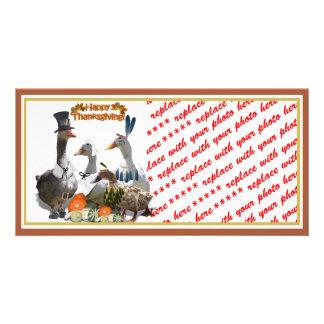 Thanksgiving Ducks Custom Photo Card