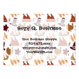 Thanksgiving Fall Autumn Harvest Pattern Pack Of Chubby Business Cards
