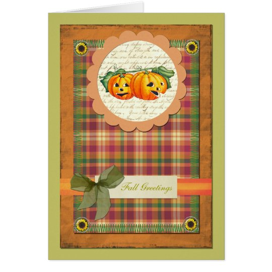 Thanksgiving, Fall Greeting Card