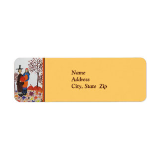 Thanksgiving Fall Harvest Return Address Label