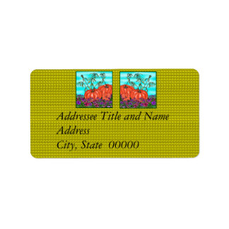 Thanksgiving Fall Holida Avery Addressee Labels