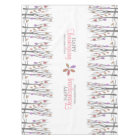 Thanksgiving fall leaves personalised family name tablecloth