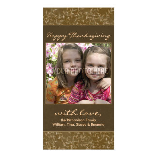Thanksgiving Fall Leaves Photo Cards