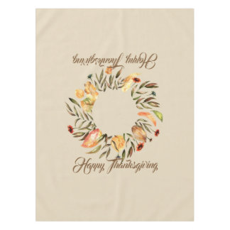 Thanksgiving Fall Wreath Tablecover Tablecloth