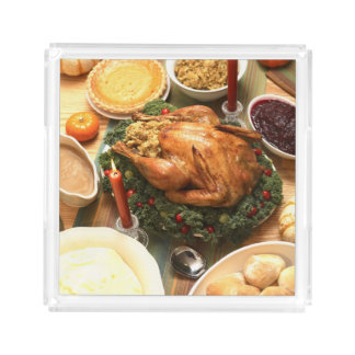 Thanksgiving Feast Acrylic Tray