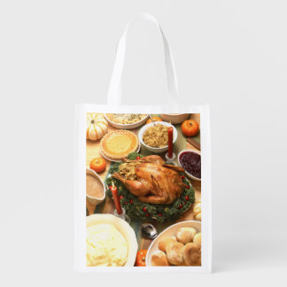 Thanksgiving Feast Reusable Grocery Bag