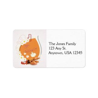 Thanksgiving Floral Address Label