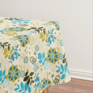 Thanksgiving  Flowers-&-Turkey Cotton Tablecloth