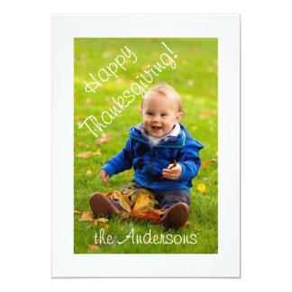 Thanksgiving Frame Photo Greeting 13 Cm X 18 Cm Invitation Card