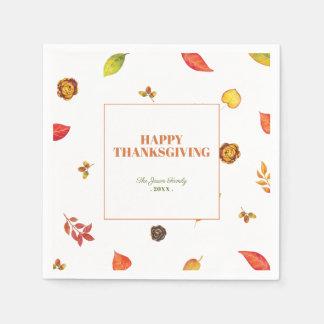 Thanksgiving Friendsgiving Paper Napkins