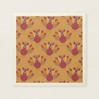Thanksgiving Fun Turkey Pattern Disposable Serviettes