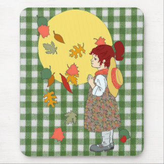 Thanksgiving Gingham Mousepads