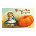 Thanksgiving Girl Post Card