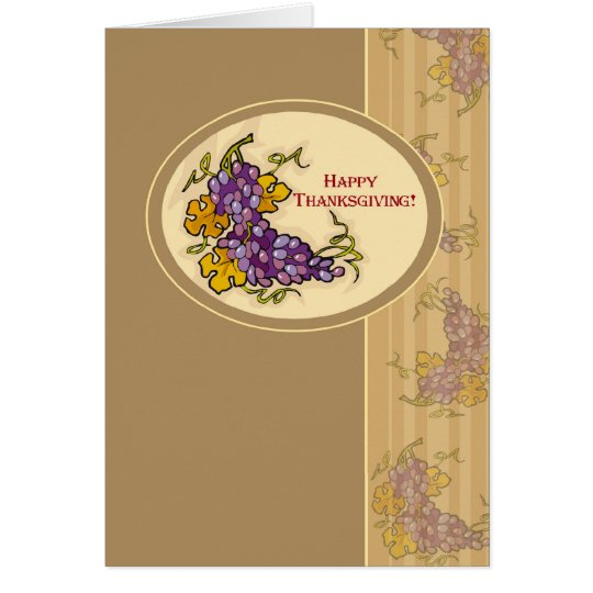Thanksgiving Grapes Card
