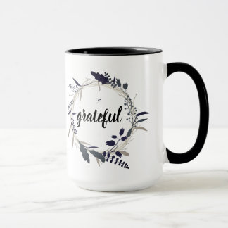 Thanksgiving Grateful Mug Leaves Wreath