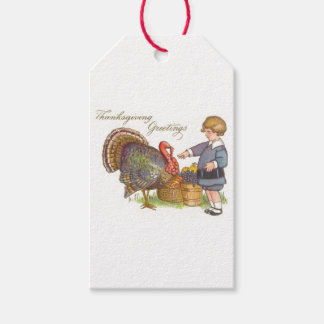 Thanksgiving Greetings Gift Tags