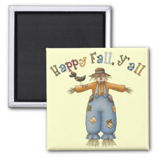 Thanksgiving Happy Fall Square Magnet