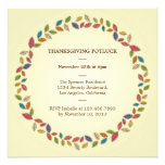 Thanksgiving Harvest Leaves Potluck Party Announcements