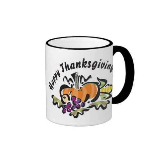 Thanksgiving Harvest Coffee Mugs
