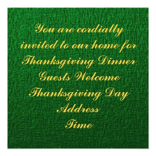 Thanksgiving Harvest Oktoberfest Invitation
