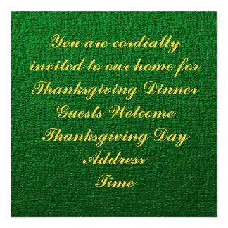 "Thanksgiving Harvest Oktoberfest Invitation 5.25"" Square Invitation Card"
