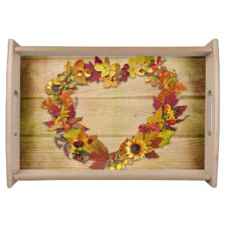 Thanksgiving Heart Serving Tray