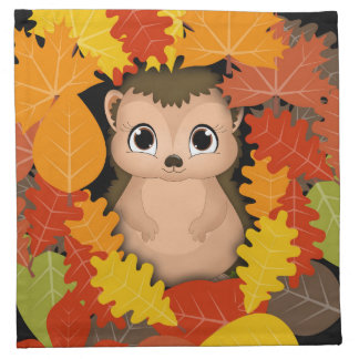 Thanksgiving Hedgehog Cloth Napkins 12x12
