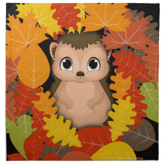 Thanksgiving Hedgehog Cloth Napkins (set of 4)