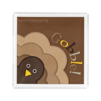 Thanksgiving hiding turkey acrylic tray