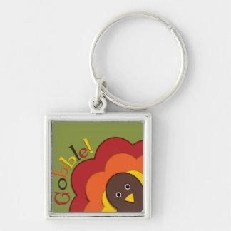 Thanksgiving hiding turkey key ring