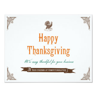 Thanksgiving Holiday Card