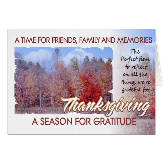 Thanksgiving holiday card autumn friends 1r