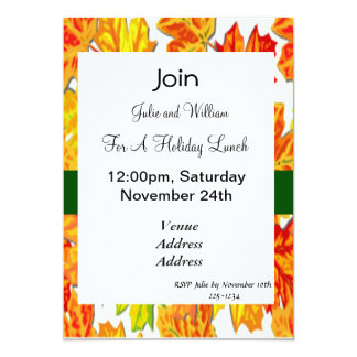 Lunch party invitations announcements zazzle thanksgiving holiday pumpkin squash sunflowers card stopboris Images