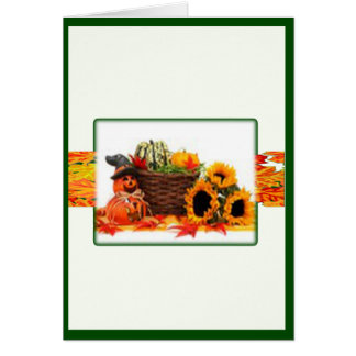 Thanksgiving Holiday, Pumpkin, Squash, Sunflowers Cards