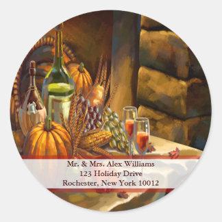 Thanksgiving Holiday Sticker Address Label