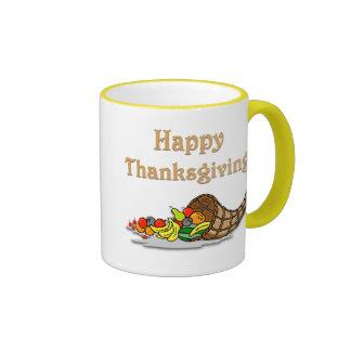 Thanksgiving Horn of Plenty Coffee Mugs