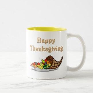 Thanksgiving Horn of Plenty Mugs