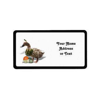 Thanksgiving Indian Duck Address Label
