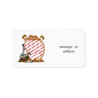 Thanksgiving Indian Ducks Photo Frame Address Label