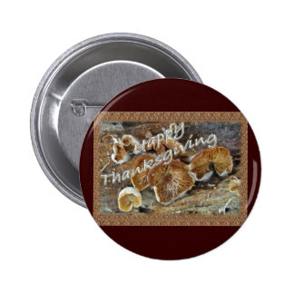 Thanksgiving Inside Out Mushrooms Items 6 Cm Round Badge