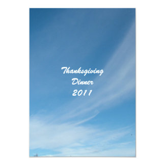thanksgiving invitation Blue sky and white clouds