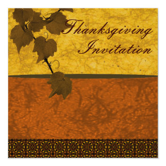 Thanksgiving Invitation Custom Personalized