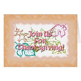 Thanksgiving Invitation Rose Text Greeting Card