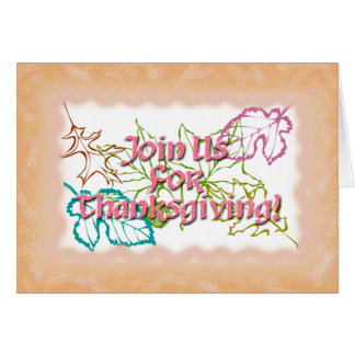 Thanksgiving Invitation Rose Text Greeting Card