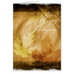 Thanksgiving Leafs-Abstract Greeting Card