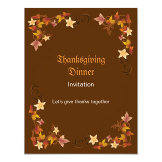 Thanksgiving Leaves Classic Fall Border Card